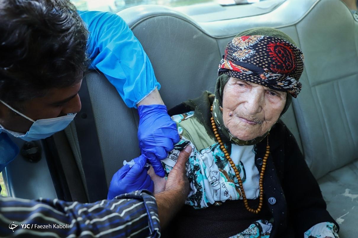 عکس/ واکسیناسیون کرونا سالمندان در گرگان