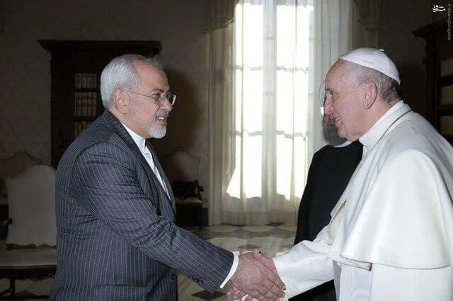 عکس/ دیدار ظریف با پاپ در ایتالیا