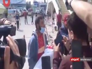 سخنان تکاندهنده پدر شهید فلسطینی مقابل دوربینها