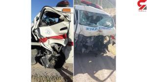 تصادف مرگبار آمبولانس با نیسان آبی