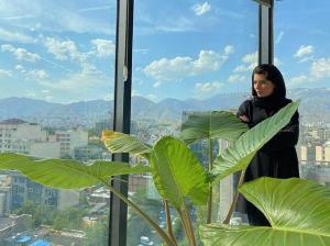 چهرهها/ تصویری زیبا از لیلا حاتمی در آسمان خراش