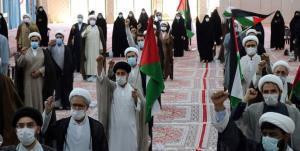 تجمع طلاب خراسان شمالی در محکومیت جنایات رژیم صهیونیستی