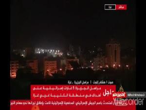 بمباران غزه در زمان پخش زنده شبکه الجزیزه