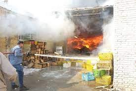 سردخانه خرما در بوشهر طعمه حریق شد
