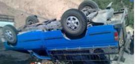 واژگونی مرگبار خودروی وانتنیسان در کمیجان