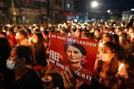 اتحادیه اروپا تصمیم کودتاچیان میانمار علیه حزب سوچی را محکوم کرد