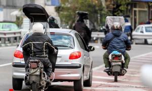 برخورد پلیس با حرکات نمایشی موتورسواران
