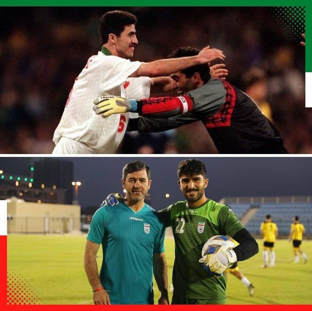 تصویری جالب از کریم باقری با احمدرضا و امیر عابدزاده
