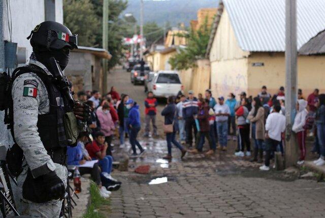 حضور مردم مکزیک در پای صندوقهای انتخابات مجلس