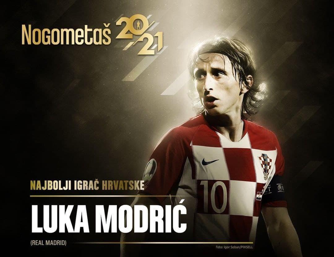 مودریچ بهترین بازیکن سال کرواسی شد