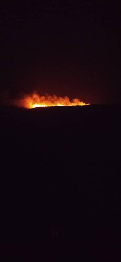 آتش در ارتفاعات میمند زبانه میکشد