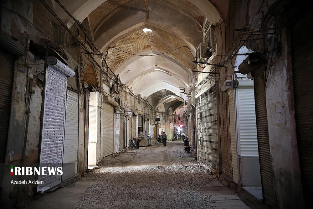 مرمت لاکپشتی بازار بزرگ اصفهان