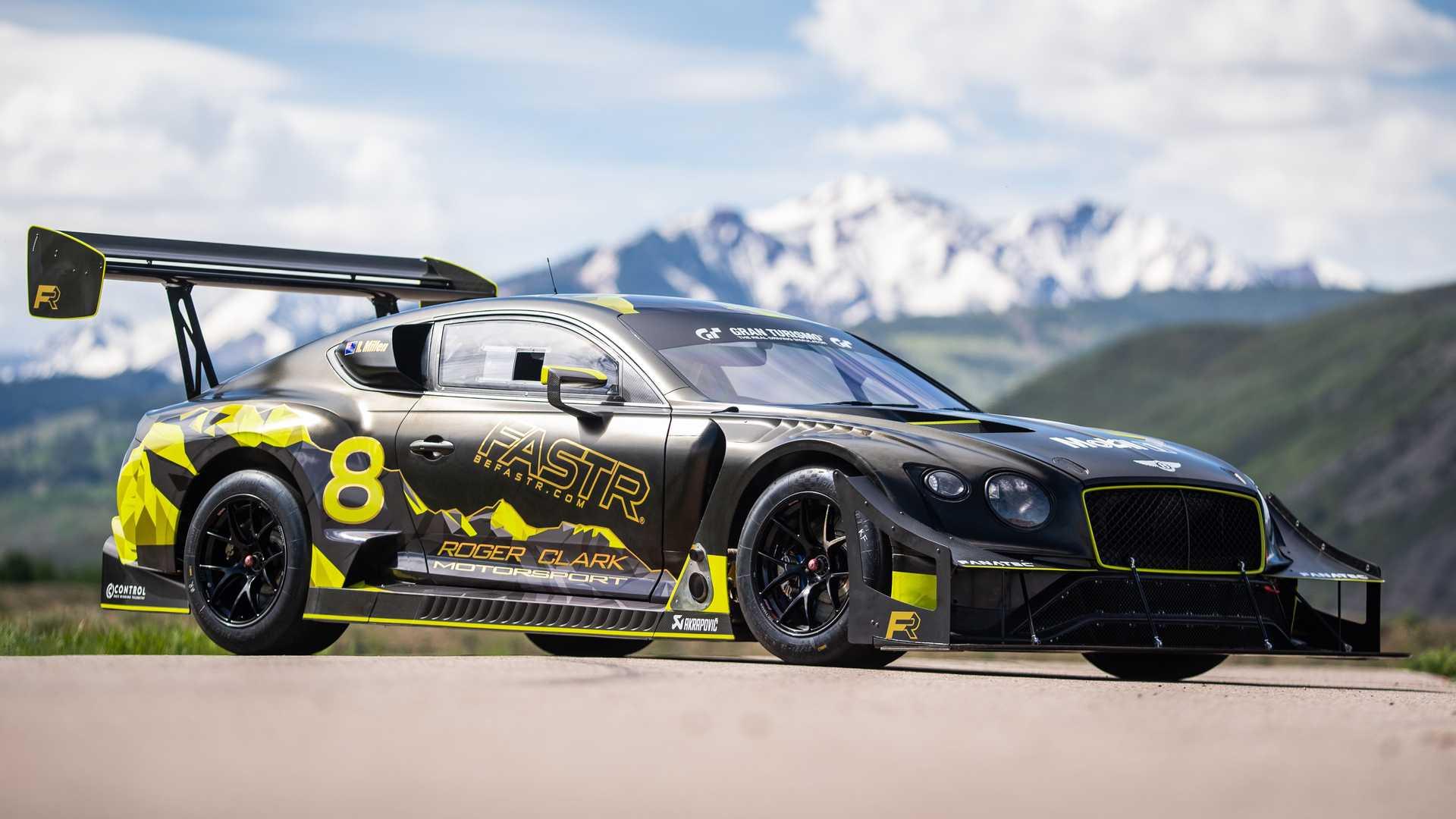 بنتلی کانتیننتال GT3 پایکس پیک، هیولایی پرقدرت با بالی بزرگ!