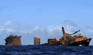 پیدا شدن جعبه سیاه کشتی غرق شده سنگاپوری