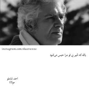 شعری زیبا از مولانا با صدای زیبای احمد شاملو