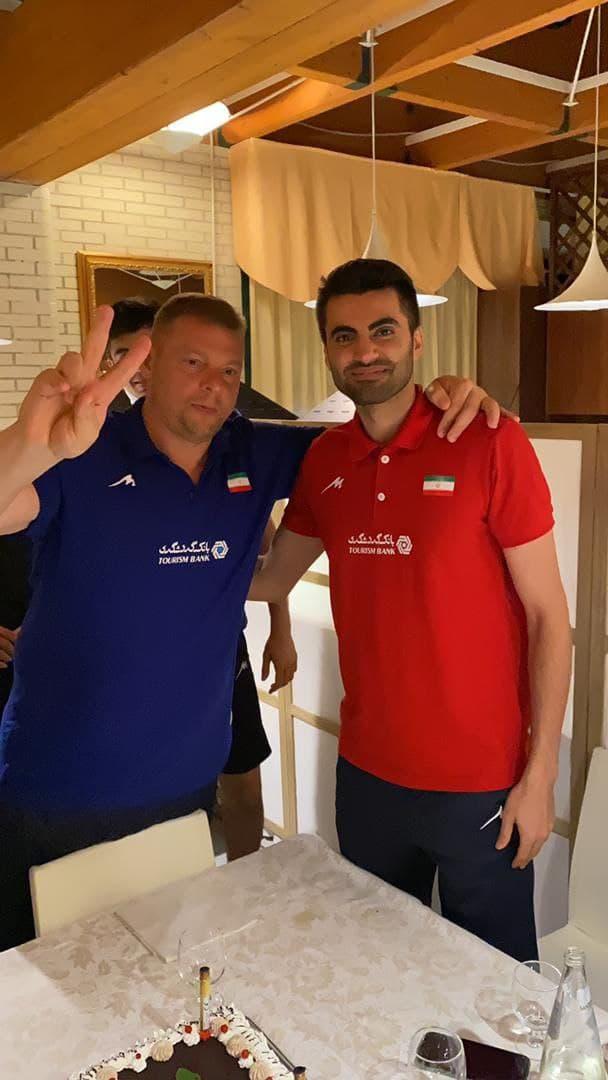 جشن تولد امیر غفور در اردوی تیم ملی