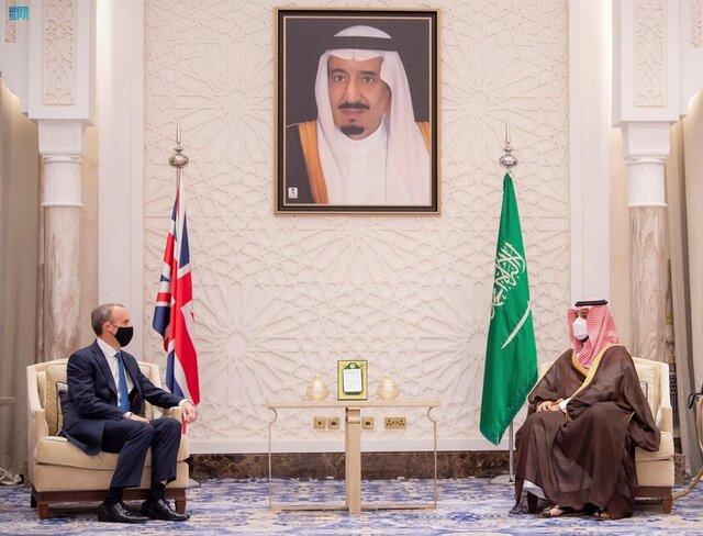 دیدار بنسلمان با وزیر خارجه انگلیس