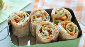 طرز تهیه رپ حمص و سبزیجات