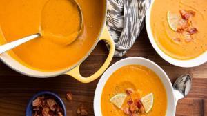 سوپی مت�اوت خوشمزه با بیکن و سیبزمینی شیرین