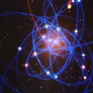 انیمیشنی از چگونگی چرخش ستارگان به دور سیاهچاله مرکزی کهکشان راهشیری