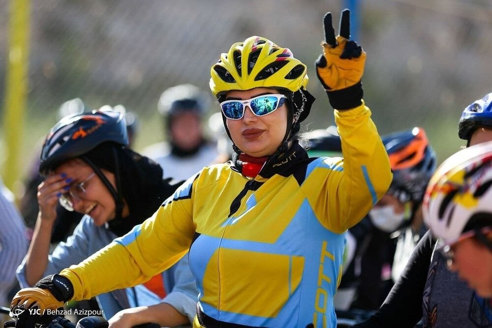 مسابقه دوچرخه سواری بانوان در تبریز