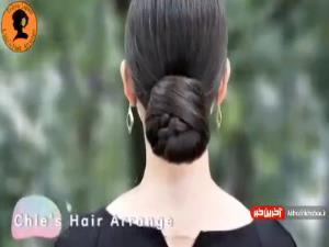 آموزش ساده و زیبای بستن موهای بلند