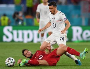 مدافع ایتالیا دیدار مقابل سوئیس را از دست داد