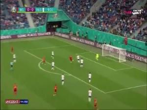 گل اول بلژیک به روسیه توسط لوکاکو