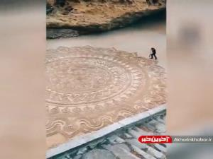 نقاشی شن در ساحل