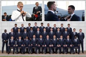 بازیکنان تیم ملی انگلیس با کت و شلوار عکس گرفتند