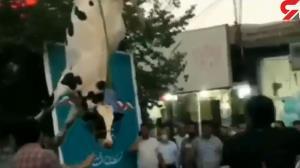 فیلم آویزان کردن یک گاو از دم در ستاد انتخاباتی سیرجان