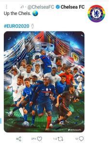 توییت باشگاه چلسی و معرفی 17 نماینده این تیم در مسابقات یورو