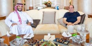 دیدار ولیعهد سعودی با رئیس جمهور مصر در شرمالشیخ