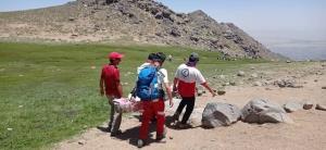 امدادرسانی به یک کوهنورد ترومایی در ارتفاعات الوند