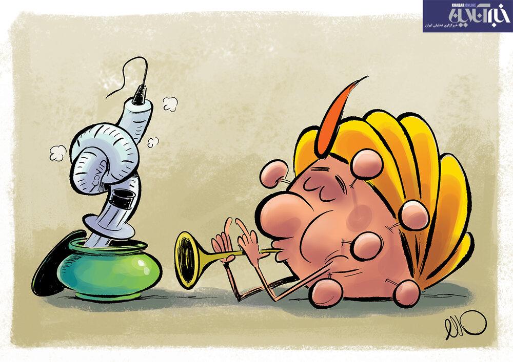 کاریکاتور/ کرونای هندی روی واکسن رو هم کم کرد!