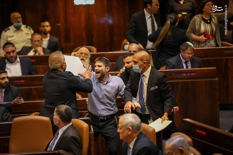 عکس/ تنش در پارلمان رژیم صهیونیستی