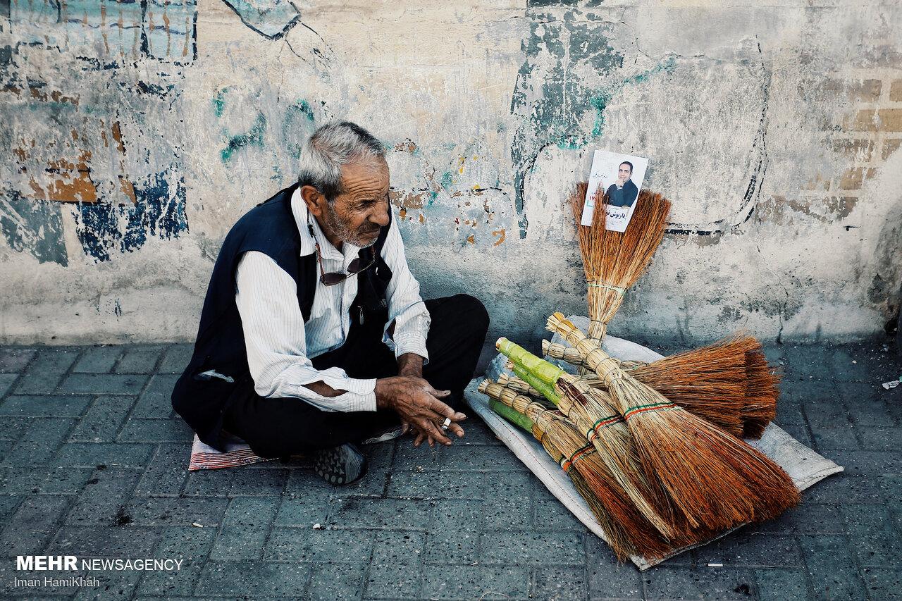 عکس/ تبلیغات پرشور انتخاباتی در همدان