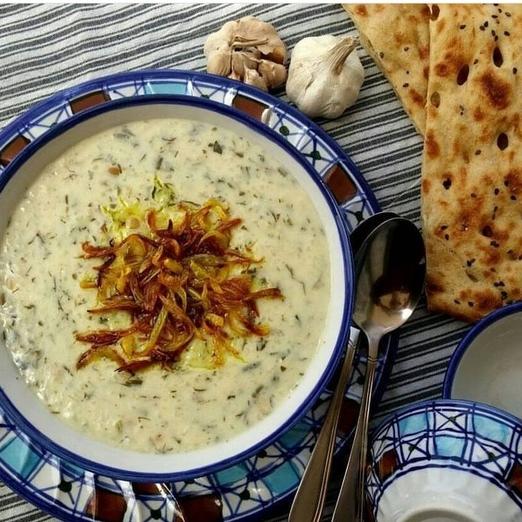 طرز تهیه «آش دوغ» سنتی و خوشمزه کردستان
