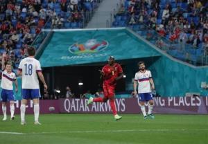 یورو ۲۰۲۰/ پیروزی بلژیک در نیمه نخست بازی با روسیه