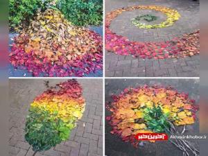 هنر ژاپنیها با برگهای پاییزی