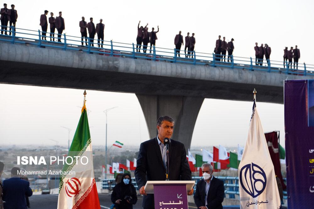 بهرهبرداری از مجموعه پلها و تقاطع چهار سطحی شهید سلیمانی در اصفهان