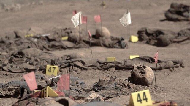 کشف گور جمعی قربانیان داعش در نینوا