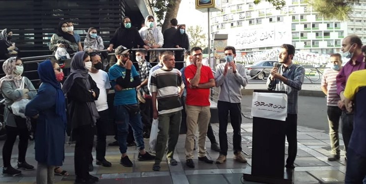برگزاری تجمع حامیان همتی در میدان ولیعصر تهران