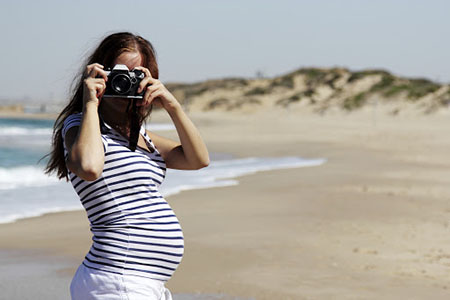 برنزه کردن در دوران بارداری