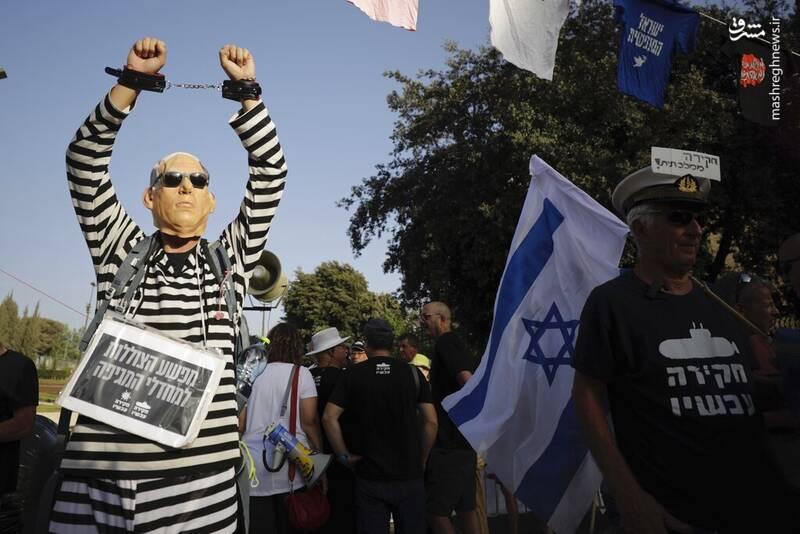 عکس/ گودبای پارتی صهیونیست ها برای رفتن نتانیاهو