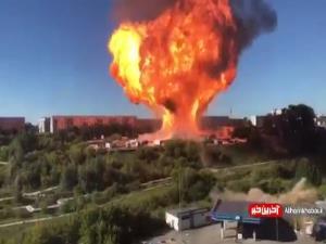 لحظه انفجار پمپ بنزین با 16 کشته و 6 مجروح در روسیه