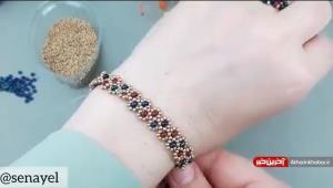آموزش بافت دستبند مرواریدی ریز شیک و زیبا