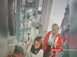 لحظه دزدی دو خانم شیک پوش در موبایل فروشی