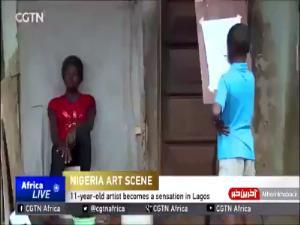 نقاشی های فوق العاده زیبای پسر 11 ساله نیجریه ای