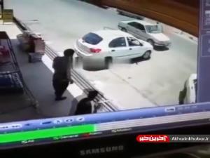 آتش گرفتن خودروی در حال حرکت!